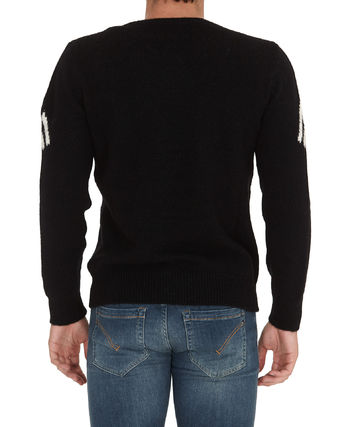 MONCLER Sweaters Crew Neck Pullovers Wool Nylon Street Style Long Sleeves 6