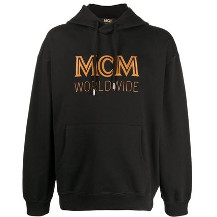 MCM Hoodies Street Style Long Sleeves Cotton Logo Hoodies
