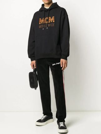 MCM Hoodies Street Style Long Sleeves Cotton Logo Hoodies 2