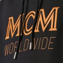 MCM Hoodies Street Style Long Sleeves Cotton Logo Hoodies 5