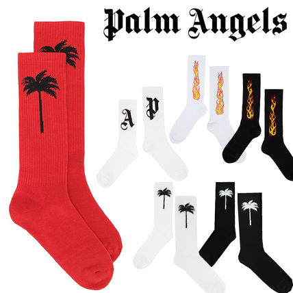Palm Angels Street Style Cotton Logo Undershirts & Socks