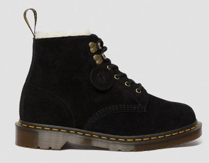 Dr Martens Mountain Boots Unisex Suede Street Style Plain Leather