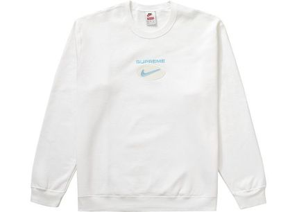 Pullovers Street Style U-Neck Collaboration Long Sleeves