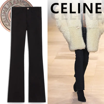 CELINE More Jeans Dylan Flared Jeans In Pure Black Denim