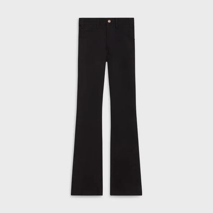 CELINE More Jeans Dylan Flared Jeans In Pure Black Denim 3
