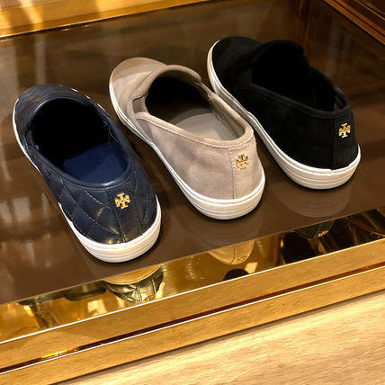 Tory Burch Casual Style Plain Logo Slip-On Shoes