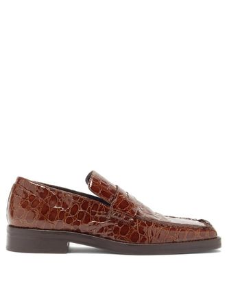 Straight Tip Loafers Street Style Plain