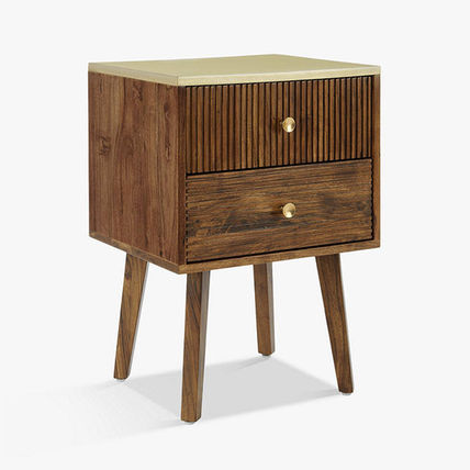 Unisex Blended Fabrics Wooden Furniture Night Stands