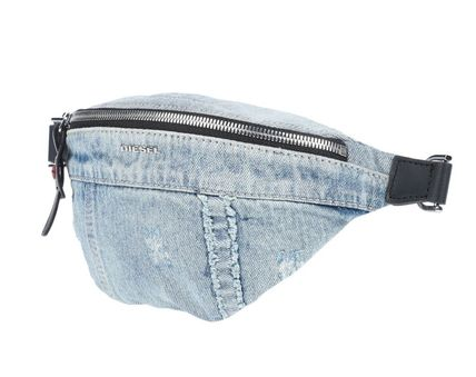 DIESEL Casual Style Denim Street Style Plain Crossbody Hip Packs