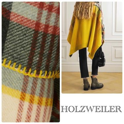 Other Plaid Patterns Wool Cashmere Blended Fabrics