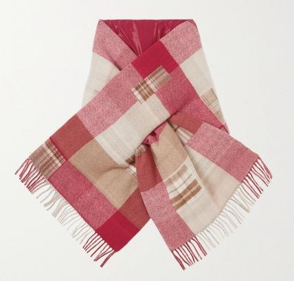 Other Plaid Patterns Cashmere Blended Fabrics