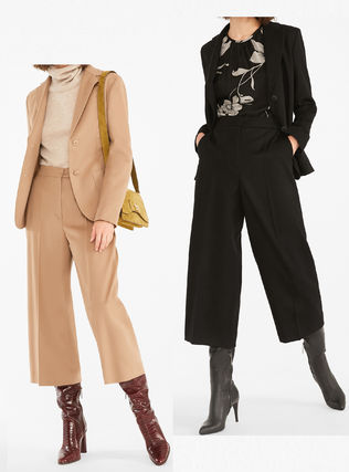 Max Mara Studio Casual Style Wool Party Style Office Style Elegant Style