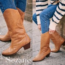 SEZANE Cowboy Boots Mountain Boots Casual Style Plain Party Style