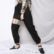 Casual Style Blended Fabrics Street Style Plain Cotton Long