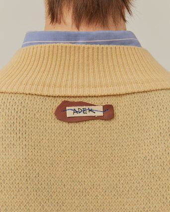 ADERERROR Sweaters Unisex Wool V-Neck Long Sleeves Plain Logo Sweaters 6