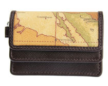 PRIMA CLASSE Plain Leather PVC Clothing Small Wallet Coin Cases