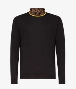 FENDI Sweaters Monogram Wool Street Style Long Sleeves Plain Luxury