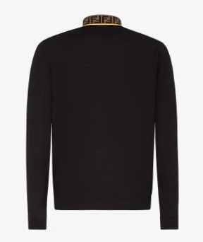 FENDI Sweaters Monogram Wool Street Style Long Sleeves Plain Luxury 2
