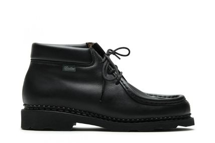 Plain Toe Moccasin Plain Leather Loafers & Slip-ons