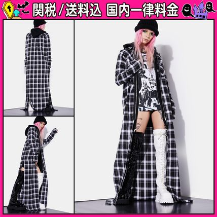 DOLLS KILL Other Plaid Patterns Casual Style Long Coats