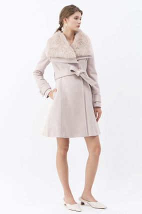 Casual Style Wool Faux Fur Medium Party Style Elegant Style