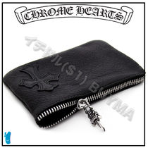 CHROME HEARTS CEMETERY CROSS Street Style Wallets & Card Holders