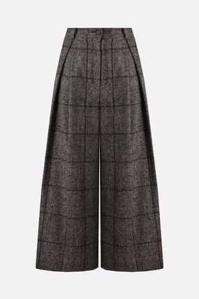Dolce & Gabbana Tartan Casual Style Wool Party Style Office Style