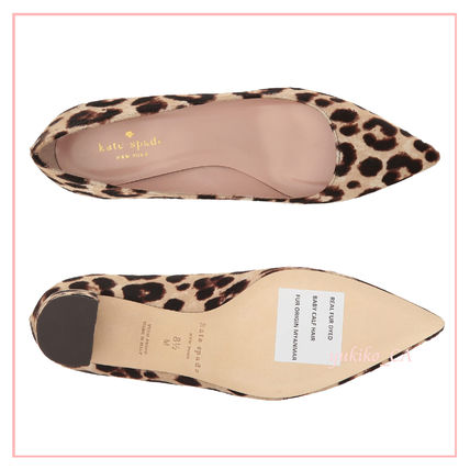 kate spade new york Leopard Patterns Casual Style Block Heels Party Style