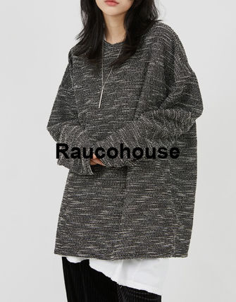 Raucohouse Sweaters Long Sleeves Oversized Sweaters