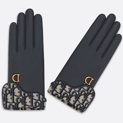 Christian Dior DIOR OBLIQUE Leather Leather & Faux Leather Gloves