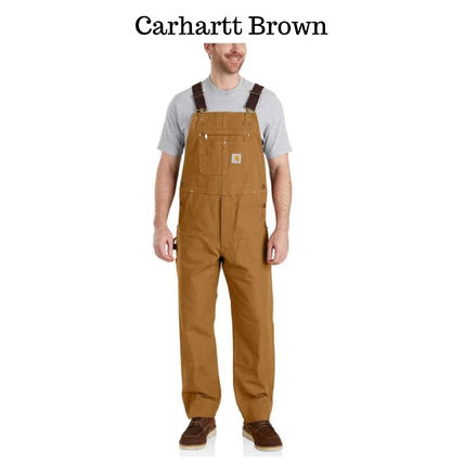 Carhartt Plain Cotton Overalls Logo Bottoms