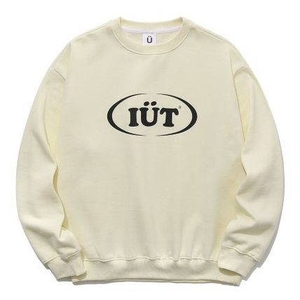 ISTKUNST Sweatshirts Pullovers Unisex Street Style Long Sleeves Cotton Oversized