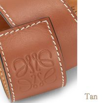 LOEWE Anagram Bangles Casual Style Unisex Leather Party Style