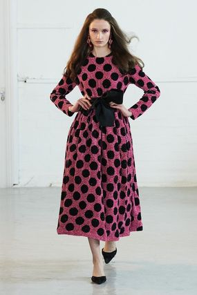 Dots Flared Medium Party Style Dresses