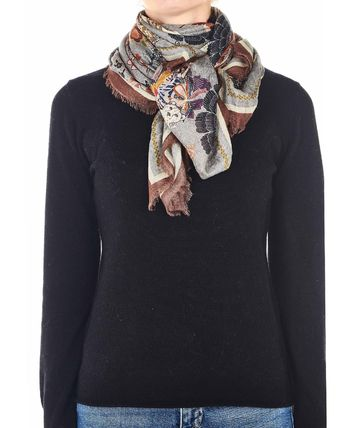 CODELLO Knit & Fur Scarves
