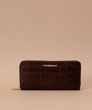 Other Animal Patterns Leather With Jewels Long Wallet  Logo