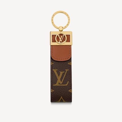 Louis Vuitton MONOGRAM Leather Logo Keychains & Holders