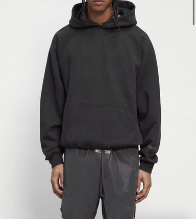 FEAR OF GOD ESSENTIALS Unisex Street Style Plain Oversized Hoodies