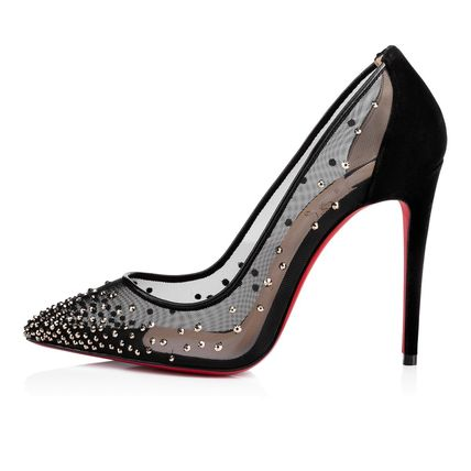 Christian Louboutin Formal Style  Bridal Logo Sheer Plain Toe Casual Style