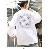 DOPE More T-Shirts Crew Neck Pullovers Paisley Unisex Street Style Long Sleeves 4