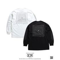 DOPE More T-Shirts Crew Neck Pullovers Paisley Unisex Street Style Long Sleeves 12