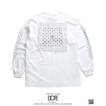 DOPE More T-Shirts Crew Neck Pullovers Paisley Unisex Street Style Long Sleeves 13