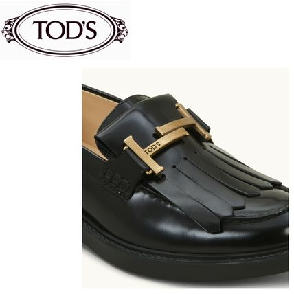 TOD'S Casual Style Street Style Plain Leather Party Style