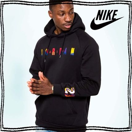 Nike Hoodies Pullovers Unisex Street Style Long Sleeves Plain Cotton Logo