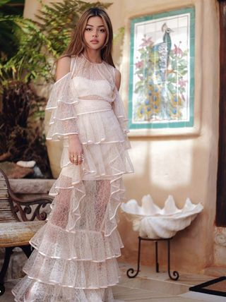 Bridal Sheer Maxi Long Lace Dresses
