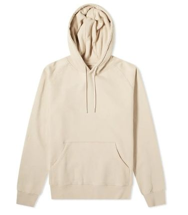 Pullovers Long Sleeves Plain Cotton Skater Style Hoodies