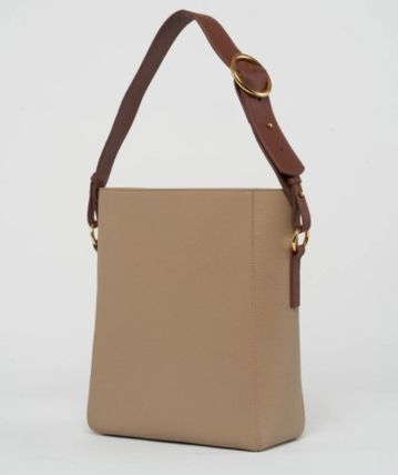 Casual Style Plain Leather Handmade Office Style Logo Totes