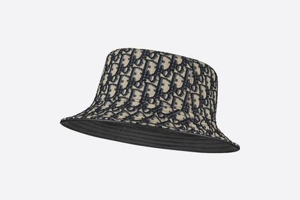 Christian Dior DIOR OBLIQUE Street Style Bucket Hats Wide-brimmed Hats