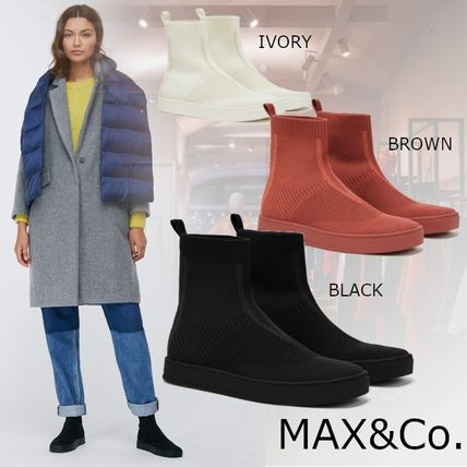 Max&Co. Rubber Sole Casual Style Plain Low-Top Sneakers