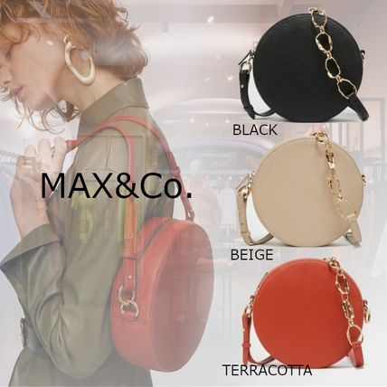 Max&Co. Casual Style Faux Fur 2WAY Chain Plain Party Style